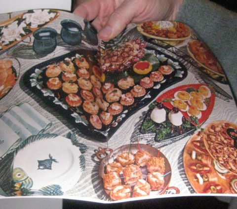 -Image of the appetizer spread from our Planter's cookbook. This party was